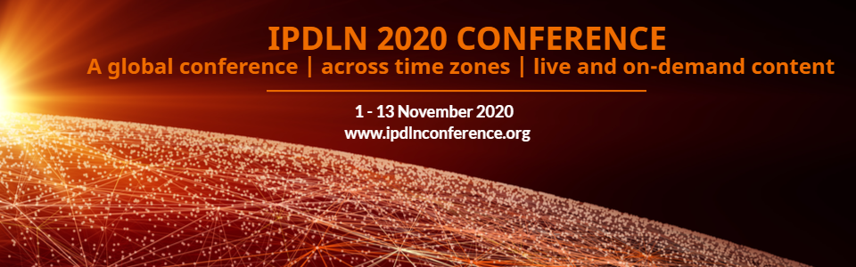IPDLN 2020 Conference Banner 2 with 1 to 13 November